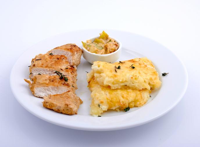 Курица с картофелем в сливочном соусе